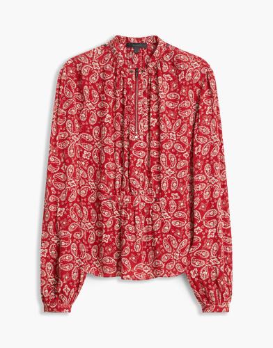 Belstaff - Lauren Printed Shirt -Carmine Red -72120168 C50N0417 50037.jpg