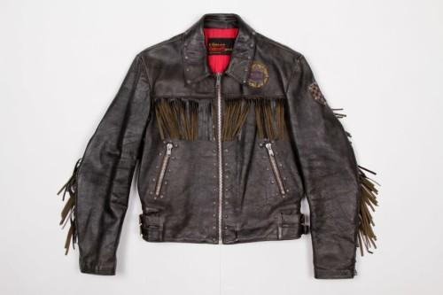 Archive #018 1970's Plainsman Black leather fringed motorcycle jacket