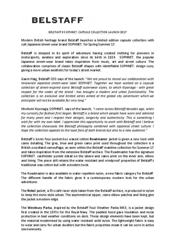 BELSTAFF X SOPHNET CAPSULE .pdf