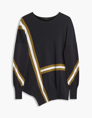 Belstaff - Soraya Crewneck - £395 - Black White Khaki - 72130191 K50B0010 09134.jpg