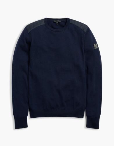 Belstaff - Kerrigan-Crewneck Sweatshirt - Dark Navy - £250 - 71130284 K67A0031 80010.jpg