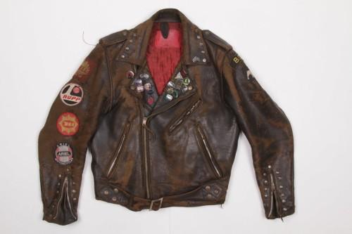 Archive #010 1950's Trashed leather motorcycle jacket, customised