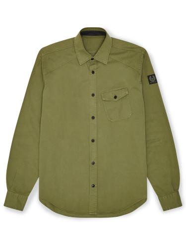 Belstaff - Steadway Shirt - £150 - Military Green - 71120141 C61A0354 20008.jpg