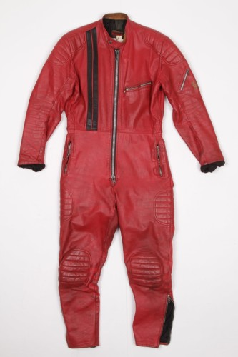 Archive #016 1970's Red leather racing suit