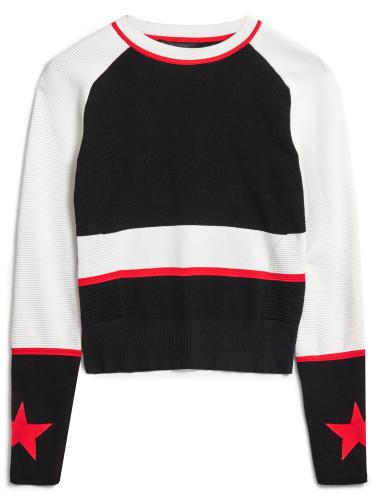 Belstaff - Sinead Crewneck Jumper - -ú395 - White Black Lava Red - 72130203 K61B0019 01938.jpg