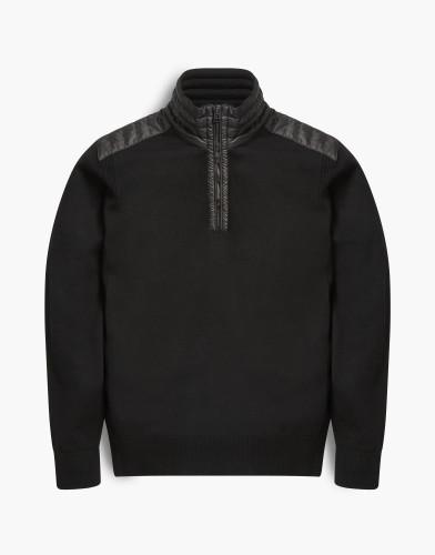 Belstaff - Kilmington Half Zip Sweater - £275 €325 $395 - Black -71130356k67a003190000.jpg