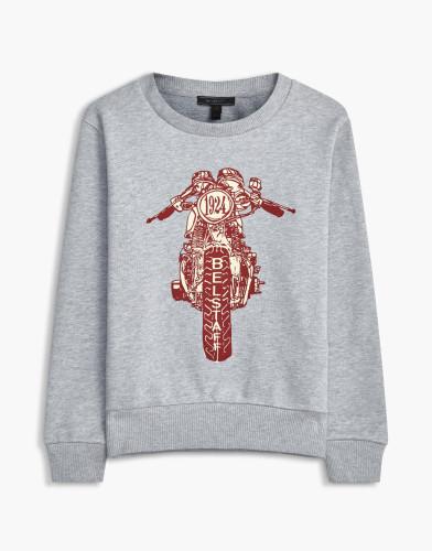 Belstaff Kids - Riley Rider Sweatshirt £85 €95 $115 - Grey Red Print - 73130002J61A010709009-jpg