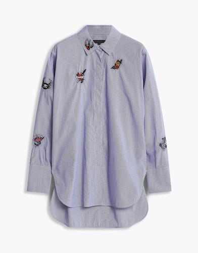 Belstaff - Shauna Shirt - £450 €495 $595 - white-navy-blue-72120176c61n040201800-jpg