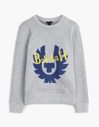 Belstaff Kids - Riley Sweatshirt £85 €95 $115 - Grey Blue Print - 73130002j61a010709008-jpg