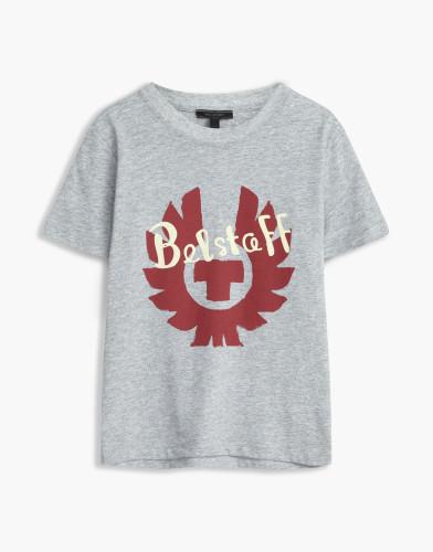 Belstaff Kids - Hanway -T-Shirt - £35  €40 $50 - Grey Red Print - 73140001j61b010309009-jpg