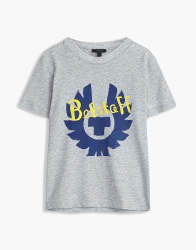Belstaff Kids - Hanway -T-Shirt - £35  €40 $50 - Grey Blue Print - 73140001j61b010309008-jpg