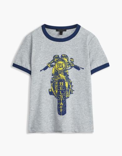 Belstaff Kids - Reeves-T-Shirt - £35  €40 $50 - Grey Blue Print - 73140002j61b010309008-jpg