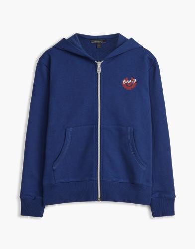 Belstaff Kids - Kingley Belstaff Hoody - £110 €125 $150 -  Blue Red Print - 73130003j61a010708845-jpg