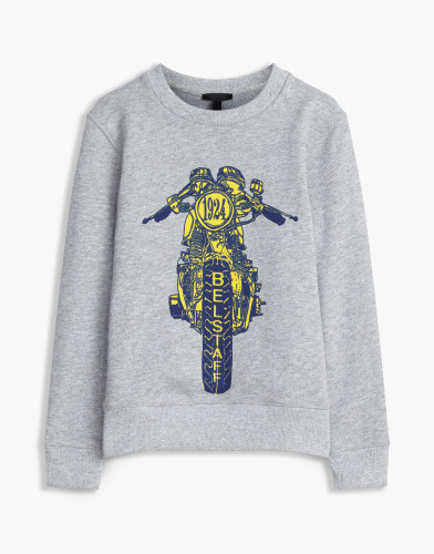Belstaff Kids - Riley Rider Sweatshirt £85 €95 $115 - Grey Blue - 73130002j61a010709008-jpg