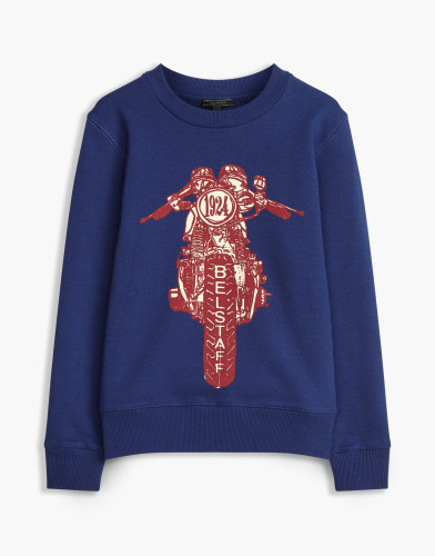Belstaff Kids - Riley Rider Sweatshirt £85 €95 $115 - Blue Red - 73130002j61a010708845-jpg