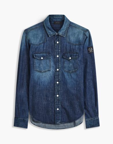 Belstaff - Somerford Shirt - £225 €250 $295 - Dark Indigo - 71120163D61C003380032-jpg