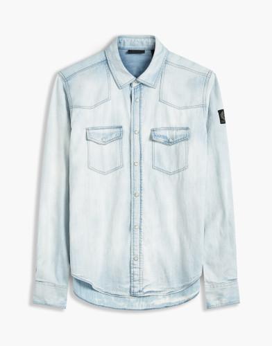Belstaff - Somerford Shirt - £225 €250 $295 - Bleached Indigo - 71120164D61D003380126-jpg