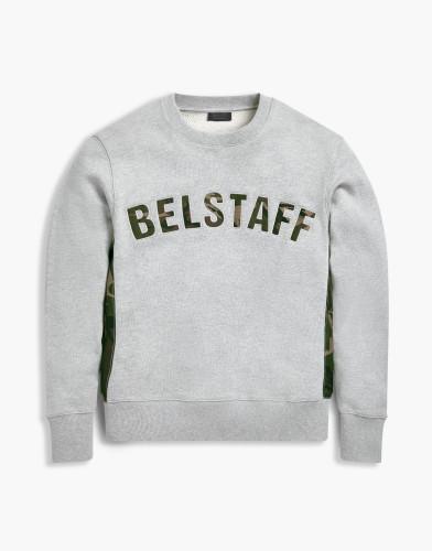 Belstaff x Sophnet- - Grantley Sweatshirt - 195 225 275 - Grey Melange - 71130399j61a009390015-jpg
