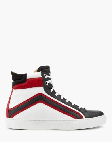 Belstaff - Ampton Sneaker - £325 €350 $425 - Black Red White - 77800215L81A056309965-jpg