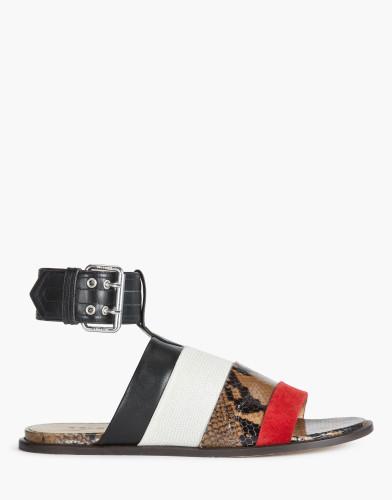 Belstaff-  Rosemoor Sandals - £395 €450 $550 - Camel White Red - 77851309L81A048701174-jpg