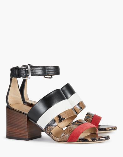 Belstaff - Rossendale Sandals - £450 €495 $595 - Camel White Red - 77851310L81A048701174 - i-jpg
