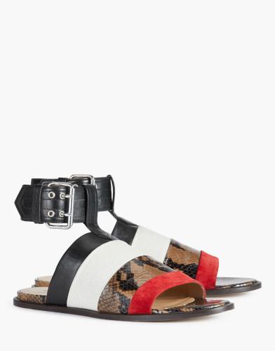 Belstaff-  Rosemoor Sandals - £395 €450 $550 - Camel White Red - 77851309L81A048701174 - i-jpg