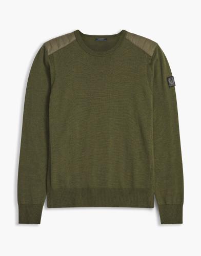 Belstaff - Kerrigan Sweater - £275 €295 $375 -Dark Pine Melange - 71130284K67A003120086-jpg