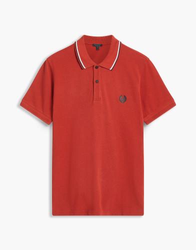 Belstaff - Stewarton Polo - £95  €110 $125 -Lava Red - 71140208J61A005450039-jpg
