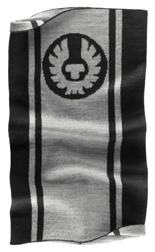Belstaff PM - Logo Knitted Neck Warmer - £55 €59 $70 - Black Pale Grey - 41630004 K77N0021 09956-jpg