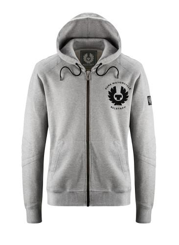 Belstaff PM - Guthrie Zip Sweater - £115 €125 $150 - Light Grey Melange - 41130010 J611N0110 90002 - Front-jpg