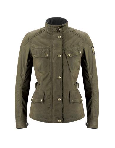 Belstaff PM Woman - Phillis Jacket - £495 €550 $650 - Military Green - Black Brown - 42030003 C50N0471 20008 - Front-jpg