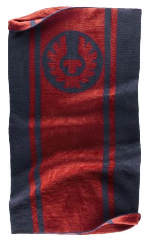 Belstaff PM - Logo Knitted Neck Warmer - £55 €59 $70 - Dark Ink Racing Red - 41630004 K77N0021 08504-jpg