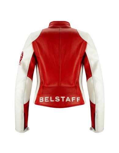 Belstaff PM Woman - Hartle Blouson - £795 €895 $1050 - British Racing Red Ivory - 42020014 L81N0612 05109-jpg
