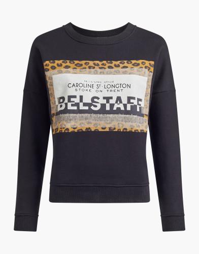 Belstaff - Alness Leopard Print Pullover - £150 €195 $225 - Black - 72130257J61A011690000-jpg