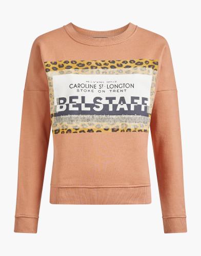 Belstaff - Alness Leopard Print Pullover - £150 €195 $225 -Coral - 72130257J61A011640067-jpg
