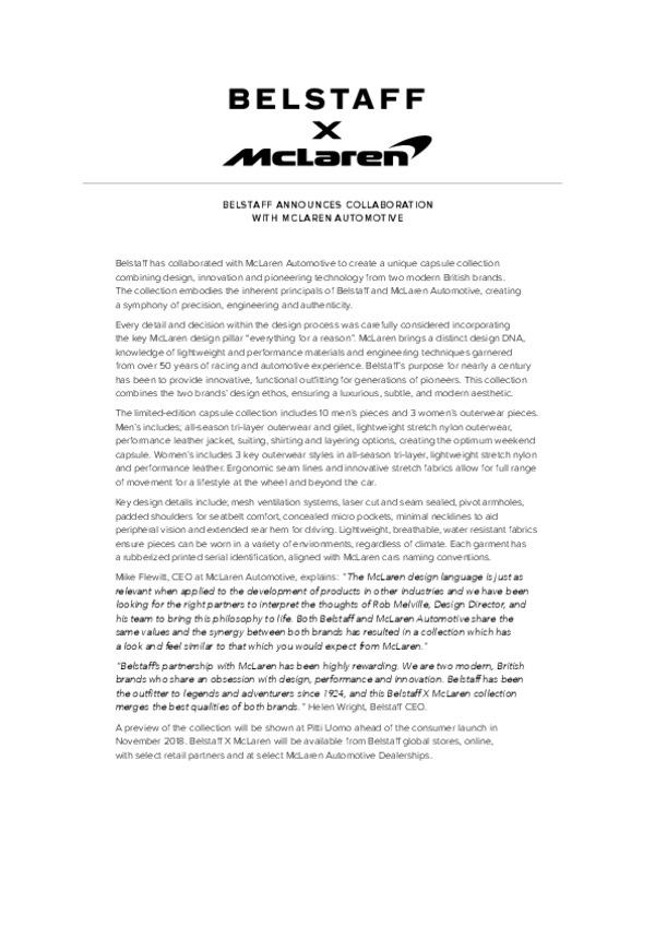 Belstaff X McLaren Announcement-pdf