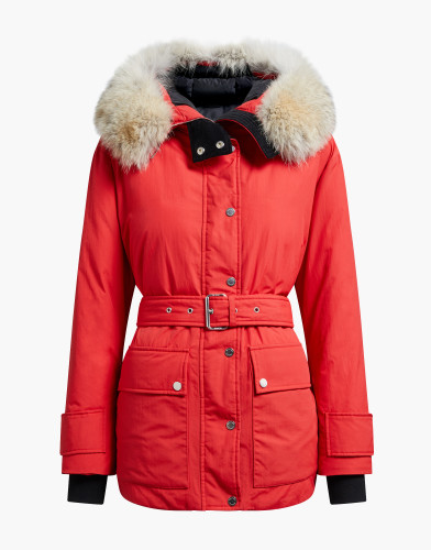 Belstaff – Dawlby  with Fur- £750 €795 $895 ¥133000 – Lava Red – 72030128C50N051839-jpg