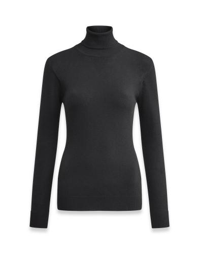 Belstaff Womens – Engineered Roll Neck – £225 €250 $295 ¥37000 – Black – 72130288K67N001690000-jpg