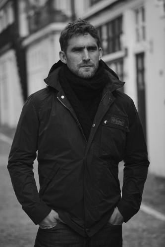Belstaff Introduces the Weekender Jacket  Irish Cable ScarfBW-jpg